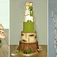 Forest wedding cake.