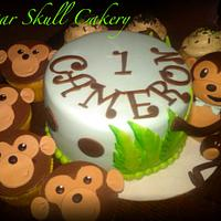 Monkey Themed Smash Cake
