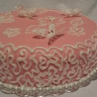 butterflies cake