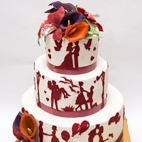 "Wedding cake ""Love story"""