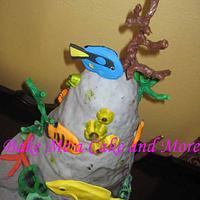Underwater themed Grooms Cake by Charlotte VanMol