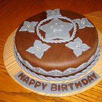 Western Rope Star Cake