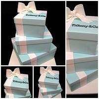 Tiffany Gift box Cake by DeVoliCakes