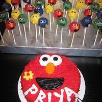 Sesame Street Cake Pops & Elmo Cake!