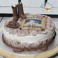 Line Dancing Birthday Cake