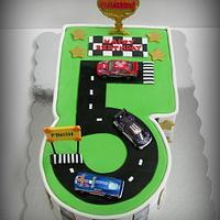 Boy's Racetrack Cake