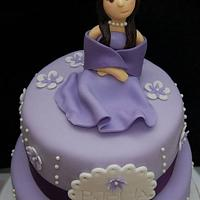 Shades of Purple -18th Birthday Cake
