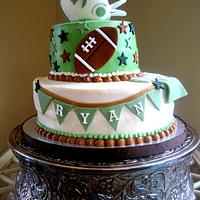 Retro Jets Football Cake