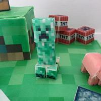 Minecraft Cake 100% edible :) by Sue