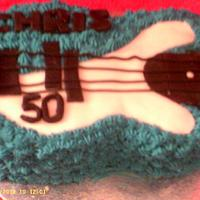 Guitar cake by Marianne Barnes