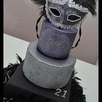 Masked 21st Cake