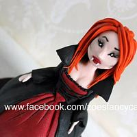 Bride of Dracula cake / cupcake + video tutorial