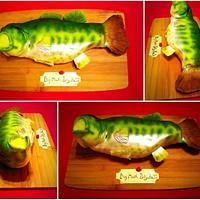 Big mouth billy bass cake