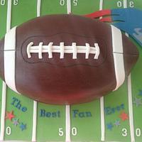 Patriots football cake