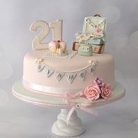 21st Travel themed birthday cake