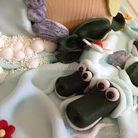 Jungle Baby Reveal Cake by Shereen