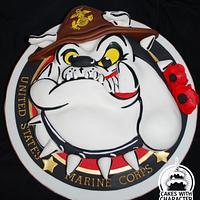 United States marine Corp mascot