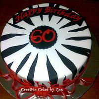 Zebra themed Cake