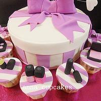 chanel cosmetic gift box cake by annacupcakes