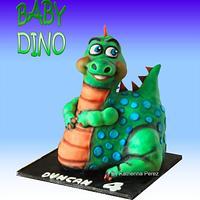 BABY DINO 3D CAKE