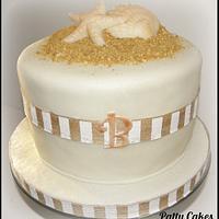 Beach Wedding Celebration Cake by Patty Cakes Bakes