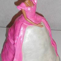 Hand Carved Barbie Dress Cake