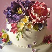 Cottage Garden wedding cake by Lynette Horner