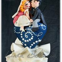 ruffles wedding cake (colette peters inspiration) by Linda Bellavia Cake Art