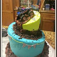 Pleasant Monster Truck Birthday Cake Cake By Jessica Chase Avila Cakesdecor Personalised Birthday Cards Veneteletsinfo