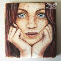 Portrait of a girl- hand painted