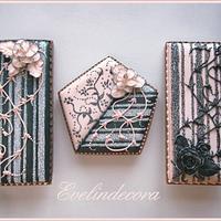 Glittered stencil cookies