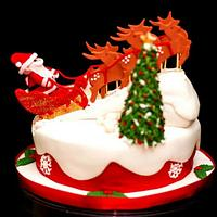 Christmas cake for boss - flying to sky~~~