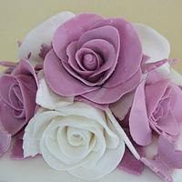 Confirmation cake roses by Marilena