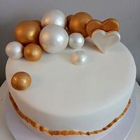 Elegant fault line birthday cake
