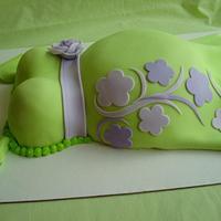 Gender Surprise  Belly Cake by Nessa Dixon