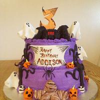 Halloween B-day cake