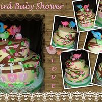 BIRD BABY SHOWER CAKE