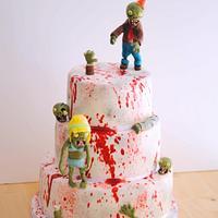 Zombie blood birthday cake by Mericakes