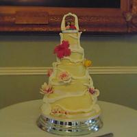 Wishing tree Wedding Cake