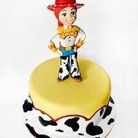 cake with cowgirl