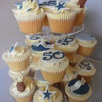 50th Birthday Cucpakes