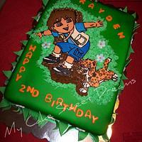 Go Diego Go Birthday Cake