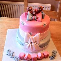 Teddies Christening cake