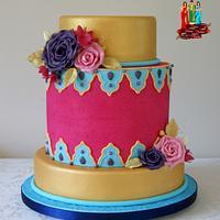 Elegant Indian Fashion Cake Collaboration