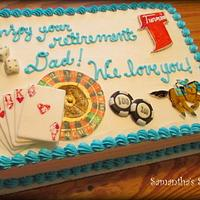 Let's Gamble!  Retirement Cake