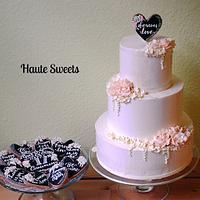 Anniversary cake and matching cookies