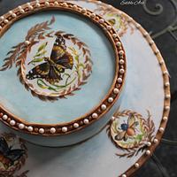 Handpainted royal cake
