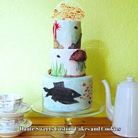 Swimmy Birthday Cake by Hiromi Greer