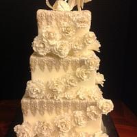 White Wedding Silver Leaves by Melanie