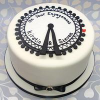 London Eye engagement cake.